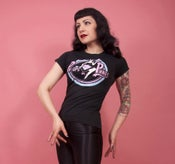 Image of Pin-Ups in Pinnies ladies skinny fit t-shirt