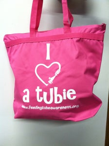 Image of I Heart a Tubie Zippered Tote Bags