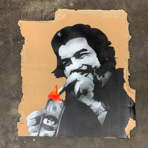 "Image of ""Burn Capitalism Burn"" unique 1/1 on cardboard"