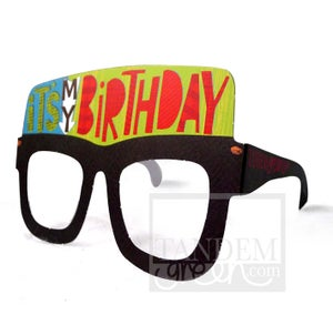 Image of Original Card Glasses-It's my birthday!