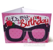 Image of Original Card Glasses-Birthday Girl
