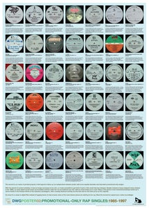 Image of DWG Poster 02: Promo-only Rap Singles 1985-1997