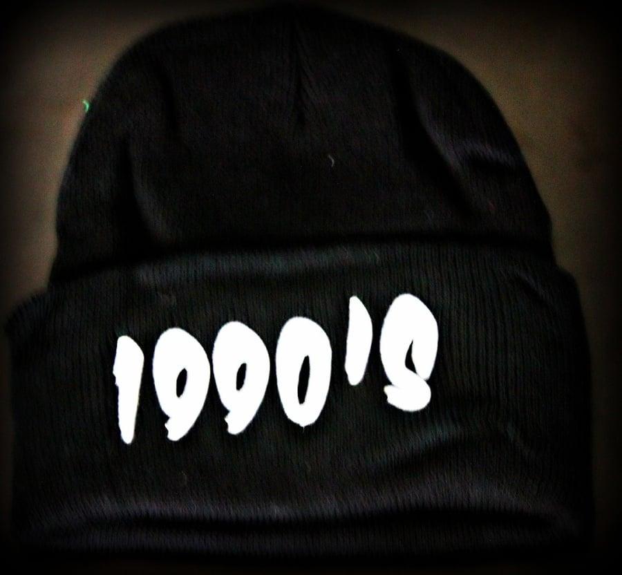 Image of 1990s  BLACK BEANIE