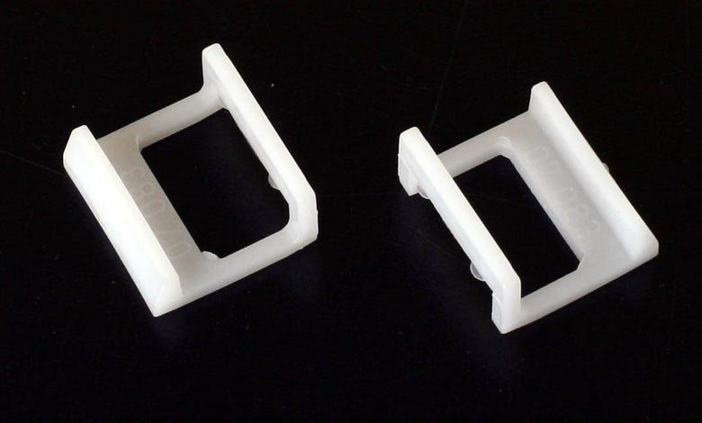 Image of Pair of Jobo white retaining clips (07083)