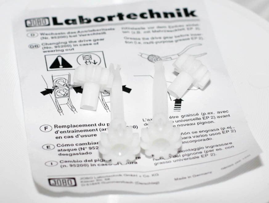 Image of Jobo Pair of White Transfer Gears for Jobo Lift (#95200)