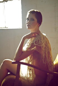 Image of Wearable Art Creative Tonal Textural Embroidery Poncho Scarf Wrap Shawl Elegant Women Golden Cream
