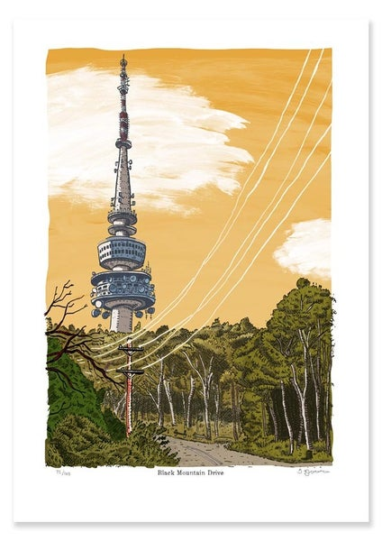 Image of Black Mountain Drive Limited Edition Digital Print