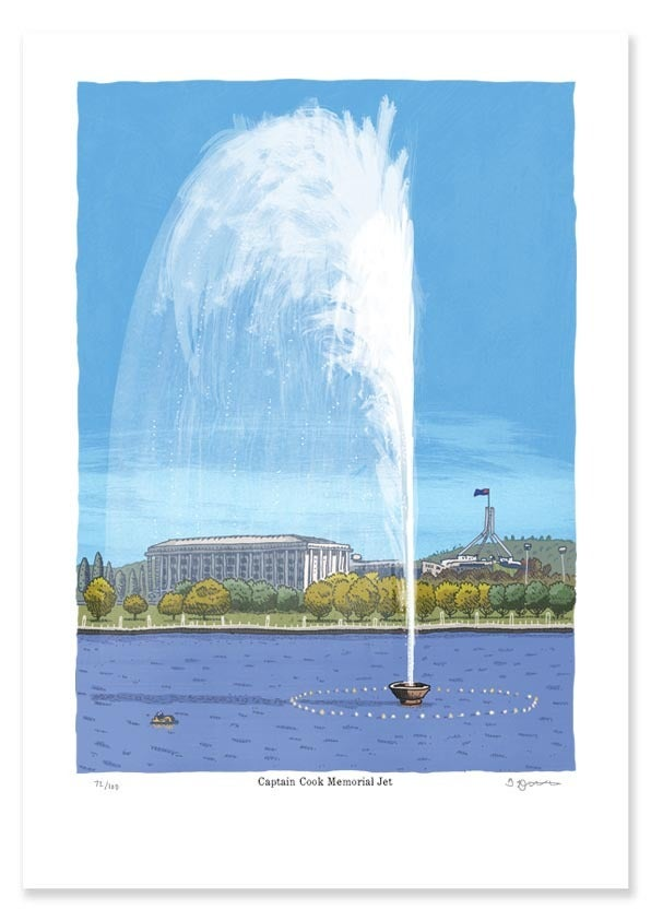 Image of Captain Cook Memorial Jet Limited Edition Digital Print