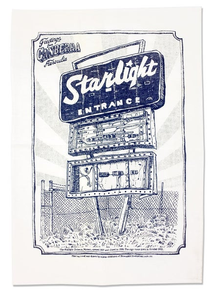 Image of Starlight Drive-in Memorial Tea Towel