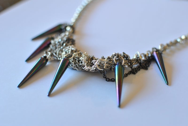 Image of Multi-Colored Spike Necklace