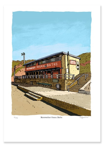 Image of Merewether Baths Limited Edition Digital Print