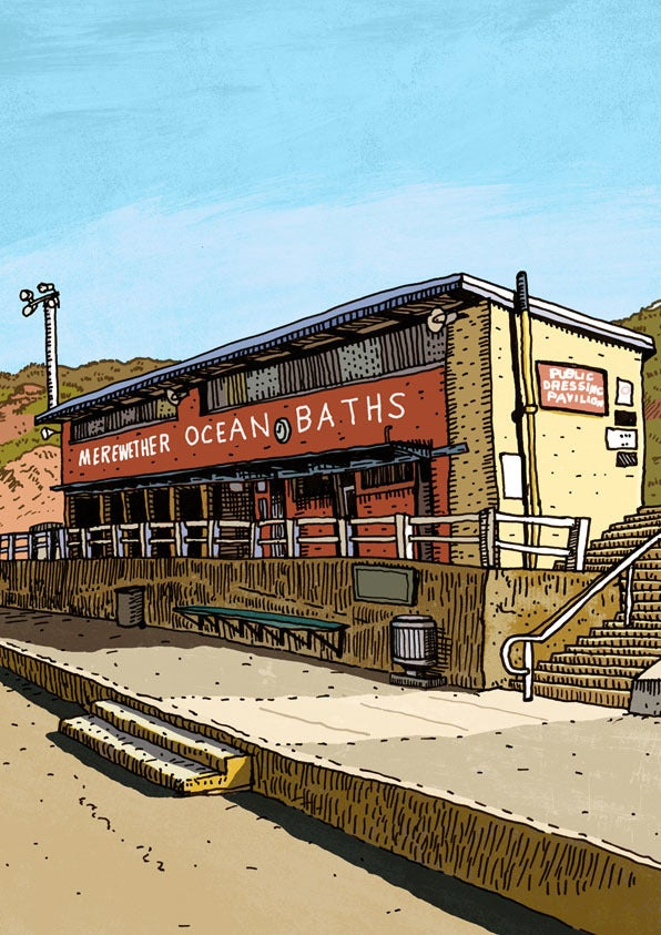 Image of Merewether Baths Limited Edition Digital Print