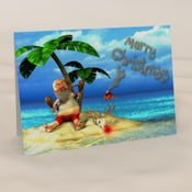 Image of Castaway Claus - Humourous Christmas Card