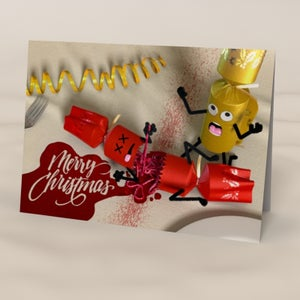 Image of Cracker Casualty - Humourous Christmas Card