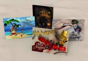 Image of Twisted Christmas Collection - 4 Pack Humourous Christmas Cards