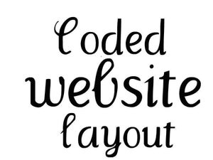 Image of Coded Website Layout