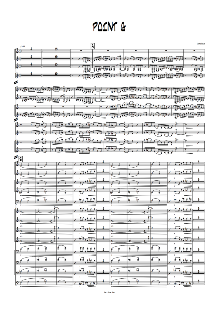 Image of Point G (full score and parts)