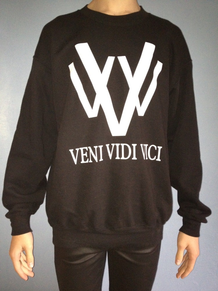 Image of vVv black logo sweat.
