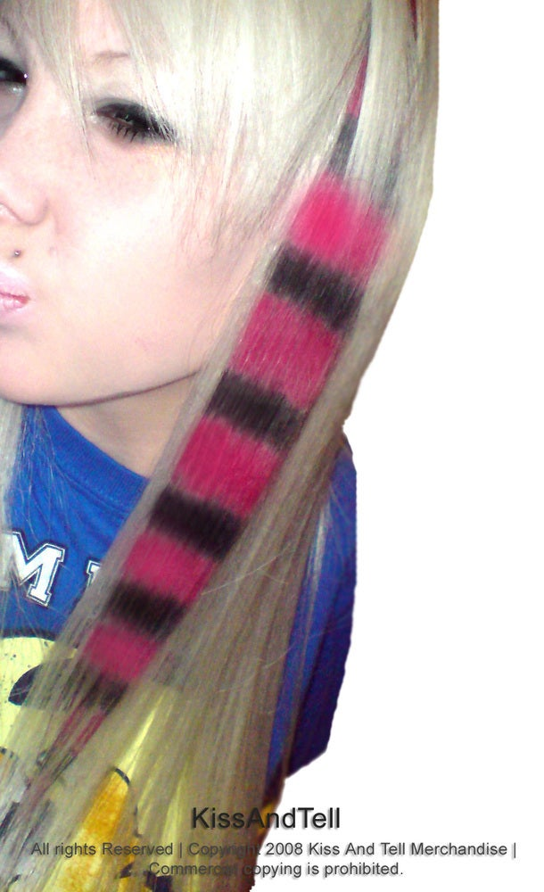 Kiss Tell Pink And Black Coon Tail