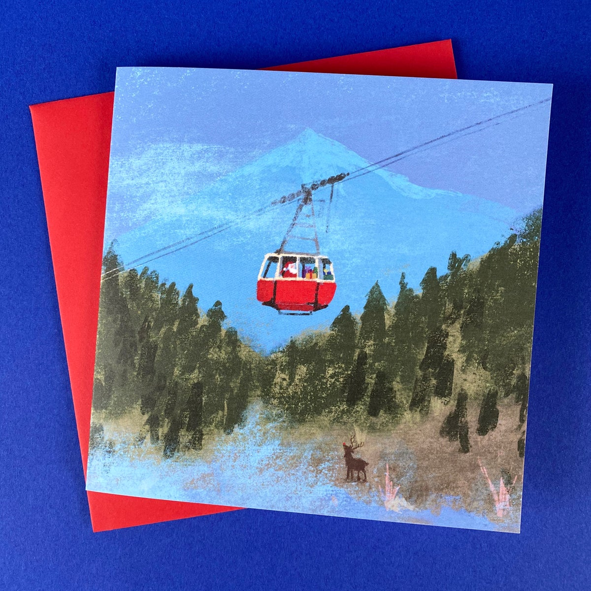 Image of 'Cable Car' Luxury Greetings Card (single or multipack)