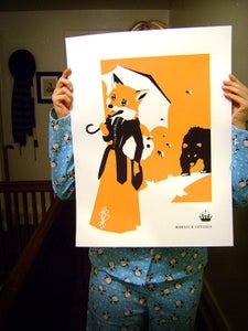 Image of Margaret, the Not-So-Wily Fox. Screen Print Poster.