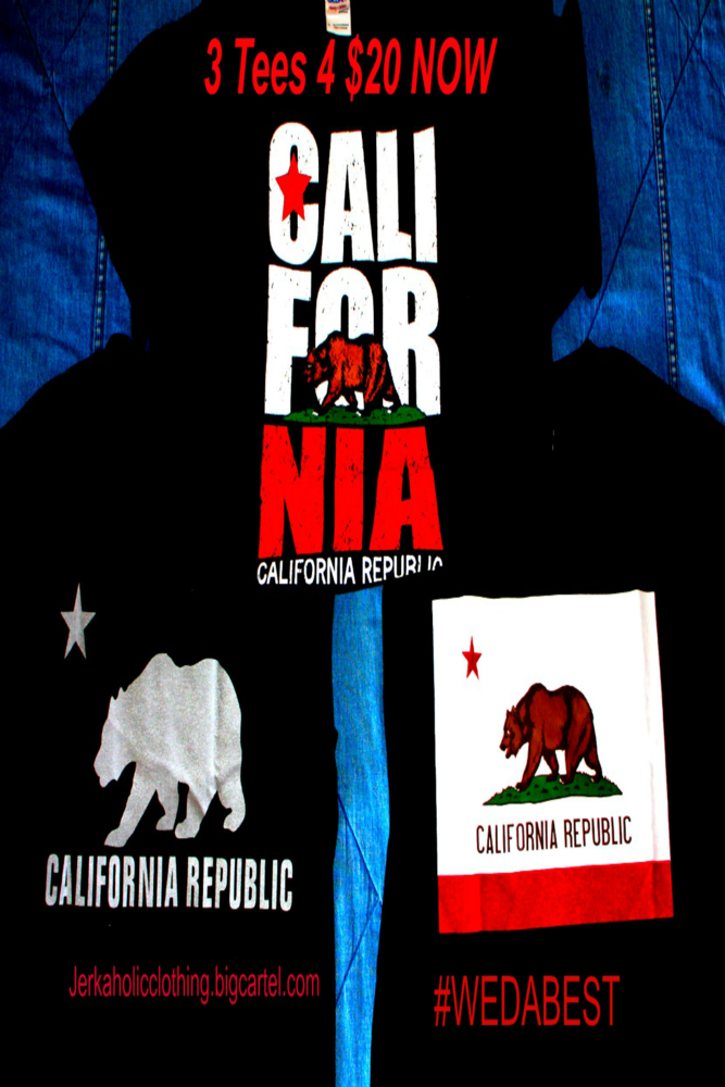 Image of ANY 3 CALIFORNIA REPUBLIC Tees 4 $25  CRAZZY SALE