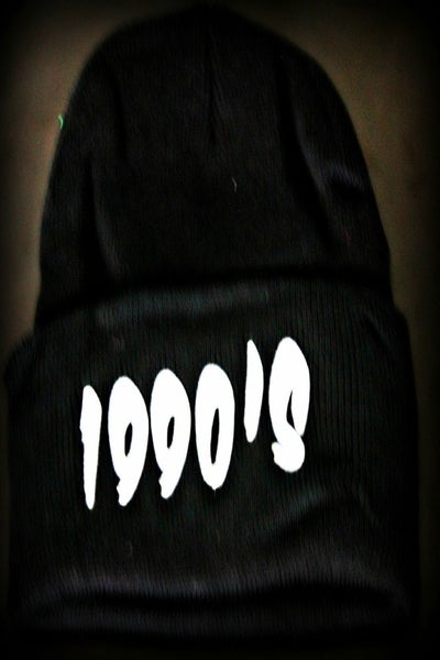 Image of 1990s  BLACK BEANIE