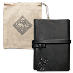 Image of PREMIUM LEATHER WRAP-AROUND<BR/>JOURNAL (BLACK)