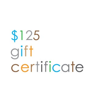 Image of Gift Certificate $125