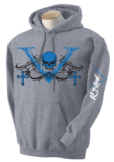 "Image of Men's Blue ""V-Unit""  Hoodie"