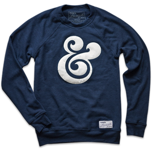 Image of PREMIUM AMPERSAND CREWNECK (NAVY)