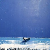 Image of Starry Starry Night, Lone Surfer, Cornwall