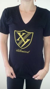 Image of XY 2012 V-neck Gold Crest Tee