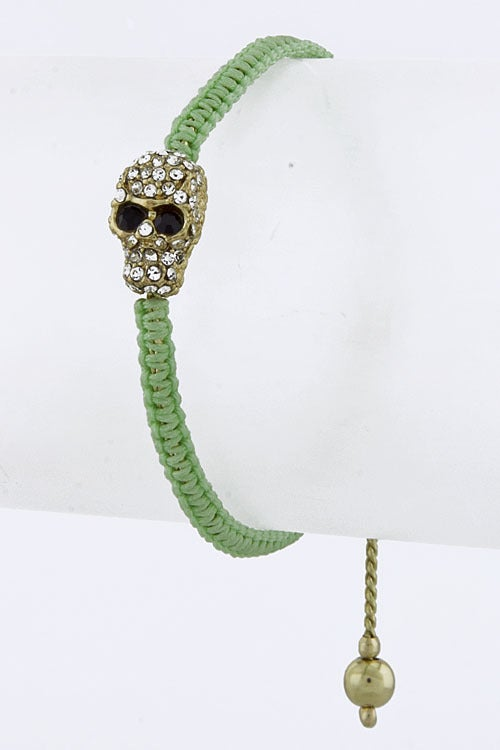 Image of Braided Skull Bracelet