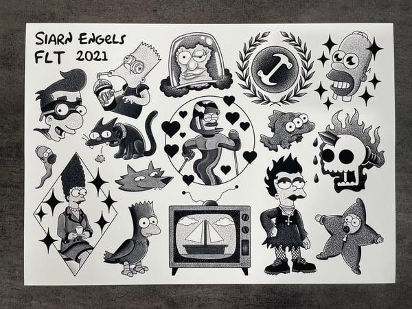 Image of Simpsons flash sheet