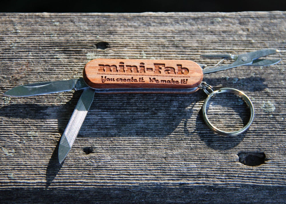 Image of Personalized Mini Wood Pocketknife