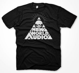 Image of PYRAMID LOGO BLACK TEE
