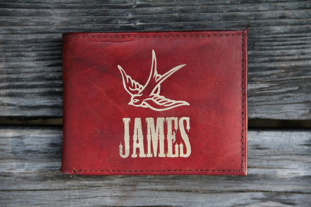 Image of Leather Wallet -Swallow