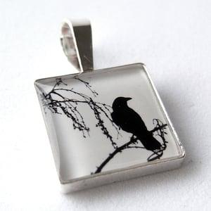 Image of Photo Pendant, Lone Crow