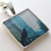 Image of Photo Pendant, Crow Flies to Vancouver