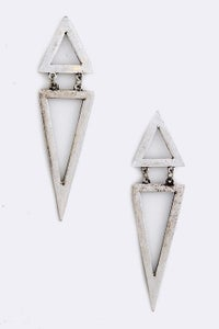 Image of Double Triangle Earrrings