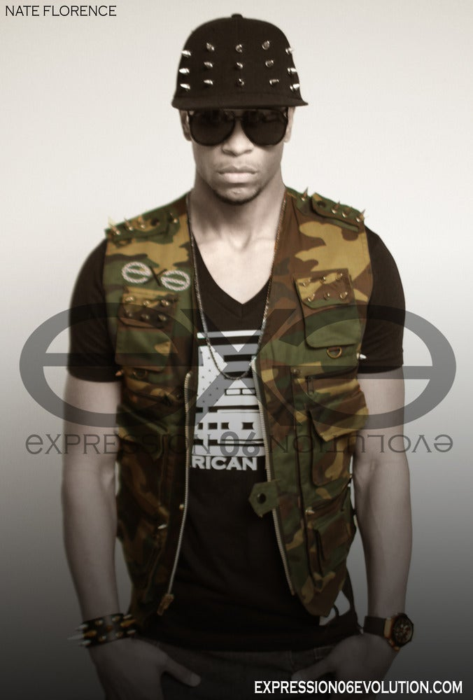 Image of LIMITED EDITION -  CUSTOM SPIKED CAMO VESTS STARTING AT 1K