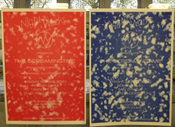 Image of The Screamingtime limited edition risograph poster in red or blue