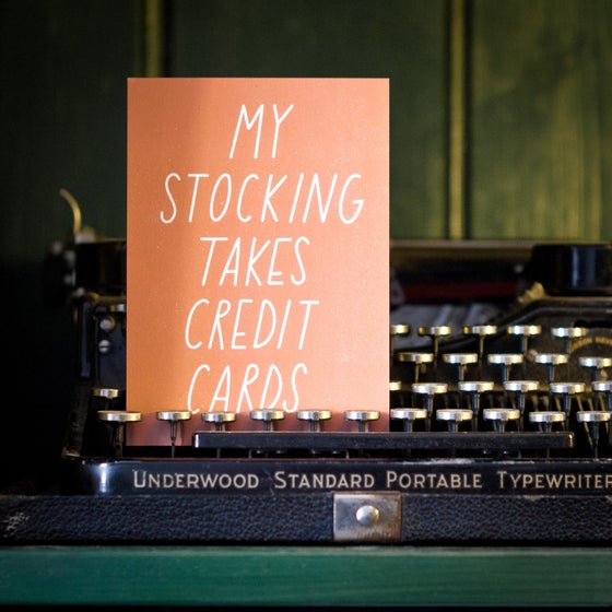 Image of My stocking takes credit cards Postcard