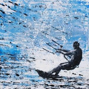 Image of Kite Surfer - Ocean Motion