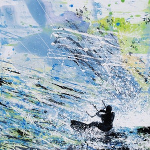 Image of Kite Surfing - Summer Wind