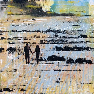 Image of Evening Walk on the Wild Beach Locquirec - Brittany