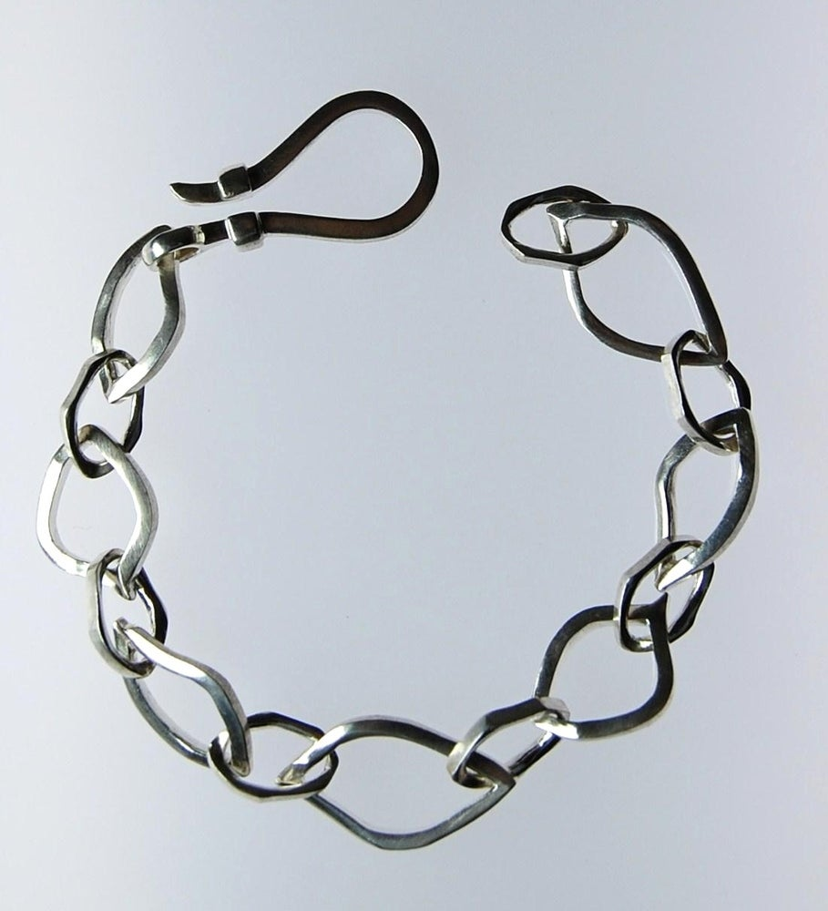 Image of Tratti Silver Links Bracelet