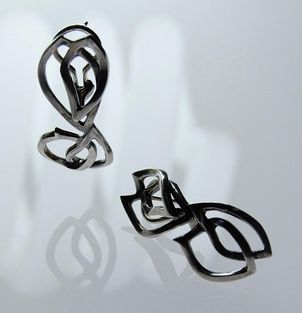 Image of Tratti Silver Clips Earrings