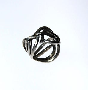 Image of Tratti Silver Lace Ring